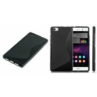 Huawei P8 Lite - Tpu Siliconen Case Hoesje S-Style Zwart