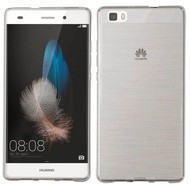 Huawei P8 Lite -Tpu Siliconen Case Hoesje Transparant