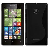 Microsoft Lumia 435 - Tpu Siliconen Case Hoesje S-Style Zwart