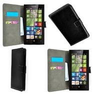 Microsoft Lumia 435 - Wallet Bookstyle Case Lederlook Zwart