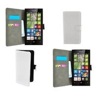Microsoft Lumia 435 - Wallet Bookstyle Case Lederlook Wit