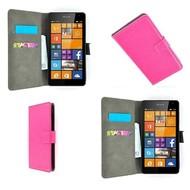 Microsoft Lumia 640 - Wallet Bookstyle Case Lederlook Roze