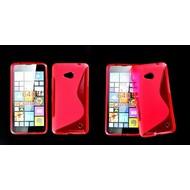 Microsoft Lumia 640 -Tpu Siliconen Case Hoesje S-Style Roze