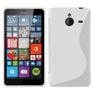 Microsoft Lumia 640 XL -Tpu Siliconen Case Hoesje S-Style Wit