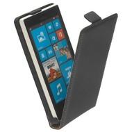 Microsoft Lumia 640 XL - Flip Case Cover Hoesje Lederlook Zwart