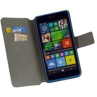 Microsoft Lumia 640 XL - Wallet Bookstyle Case Y Lederlook Zwart