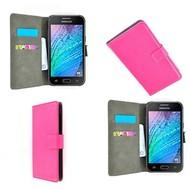 Samsung Galaxy J5 - Wallet Bookstyle Case Lederlook Roze