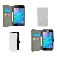 Samsung Galaxy J5 - Wallet Bookstyle Case Lederlook Wit