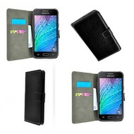 Samsung Galaxy J5 - Wallet Bookstyle Case Lederlook Zwart