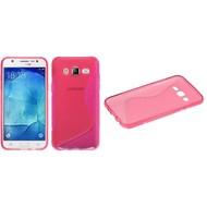 Samsung Galaxy J5 - Tpu Siliconen Case Hoesje S-Style Roze