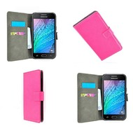 Samsung Galaxy J7 - Wallet Bookstyle Case Lederlook Roze