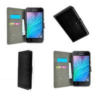 Samsung Galaxy J7 - Wallet Bookstyle Case Lederlook Zwart