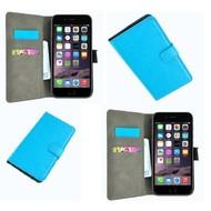 Apple Iphone 6 - Wallet Bookstyle Case Lederlook Turquoise