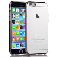 Apple Iphone 6 - Tpu Siliconen Case Hoesje Smoke Transparant