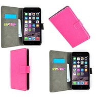 Apple Iphone 6 Plus - Wallet Bookstyle Case Lederlook Roze