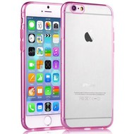Apple Iphone 6 Plus - Tpu Siliconen Case Hoesje Roze Transparant