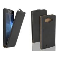 Microsoft Lumia 950 - Flip Case Cover Hoesje Lederlook Zwart