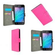 Samsung Galaxy J1 - Wallet Bookstyle Case Lederlook Roze