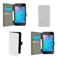 Samsung Galaxy J1 - Wallet Bookstyle Case Lederlook Wit