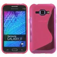 Samsung Galaxy J1 - Tpu Siliconen Case Hoesje S-Style Roze