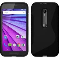 Motorola Moto G (3rd gen) 2015 - Tpu Siliconen Case Hoesje S-Style Zwart