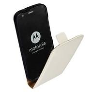Motorola Moto G (3rd gen) 2015 - Flip Case Cover Hoesje Lederlook Wit
