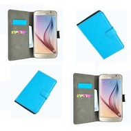 Samsung Galaxy S6 - Wallet Bookstyle Case Lederlook Turquoise