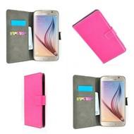 Samsung Galaxy S6 - Wallet Bookstyle Case Lederlook Roze