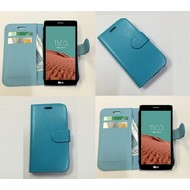 Lg Bello 2 - Wallet Bookstyle Case Lederlook Turquoise