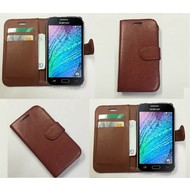 Samsung Galaxy J1 Ace - Wallet Bookstyle Case Lederlook Bruin