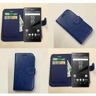 Sony Xperia Z5 - Wallet Bookstyle Case Lederlook Blauw