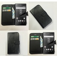 Sony Xperia Z5 Premium - Wallet Bookstyle Case Lederlook Zwart