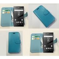 Sony Xperia Z5 Premium - Wallet Bookstyle Case Lederlook Turquoise