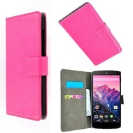 Lg Nexus 5X - Wallet Bookstyle Case Lederlook Roze