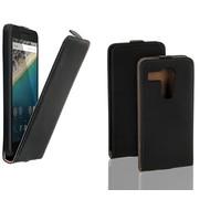 Lg Nexus 5X - Flip Case Cover Hoesje Leder Zwart