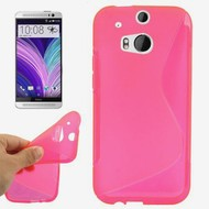 Htc One M8s - Tpu Siliconen Case Hoesje S-Style Roze