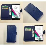 Lg G4 Beat - Wallet Bookstyle Case Lederlook Blauw