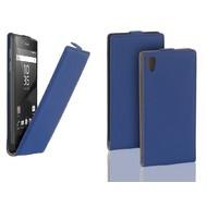 Sony Xperia Z5 - Flip Case Cover Hoesje Leder Blauw