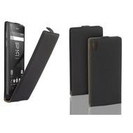 Sony Xperia Z5 - Flip Case Cover Hoesje Leder Zwart