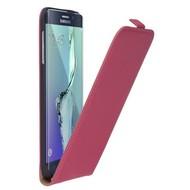 Samsung Galaxy S6 Edge Plus - Flip Case Cover Hoesje Leder Roze