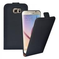 Samsung Galaxy S6 Edge - Flip Case Cover Hoesje Lederlook Zwart
