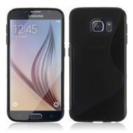 Samsung Galaxy S6 Edge - Tpu Siliconen Case Hoesje S-Style Zwart
