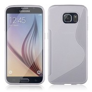 Samsung Galaxy S6 Edge - Tpu Siliconen Case Hoesje S-Style Wit