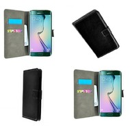 Samsung Galaxy S6 Edge - Wallet Bookstyle Case Lederlook Zwart