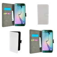 Samsung Galaxy S6 Edge - Wallet Bookstyle Case Lederlook Wit