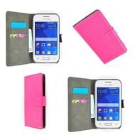 Samsung Galaxy Pocket 2 - Wallet Bookstyle Case Lederlook Roze