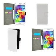 Samsung Galaxy Core Prime VE - Wallet Bookstyle Case Lederlook Wit