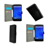 LG Nexus 5 - Wallet Bookstyle Case Lederlook Zwart