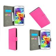 Samsung Galaxy S5 Mini - Wallet Bookstyle Case Lederlook Roze