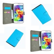 Samsung Galaxy S5 Mini - Wallet Bookstyle Case Lederlook Turquoise